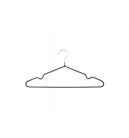 "Adult 17"" Premium Slimline Metal Hanger in Black Color"