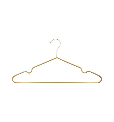 "Adult 17"" Premium Slimline Metal Hanger in Gold Color"