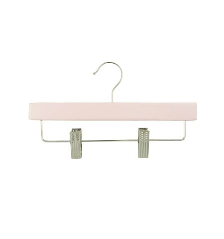 "Children's 11"" Pant/Skirt Hanger with Clips in Pink Color"