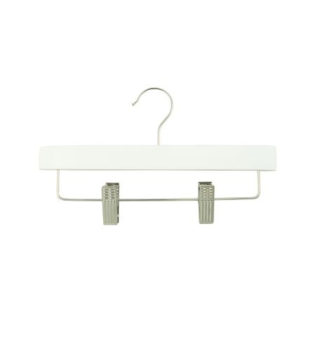 "Children's 11"" Pant/Skirt Hanger with Clips in White Color"